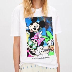 Zara Disney Mickey, Minnie, & Daisy T-Shirt, M